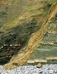 Normal fault near Kilve, UK